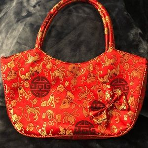 New Chinese Design Bag Red and Gold